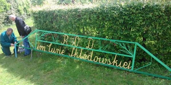 Nazwa ogrodu zostanie umieszczona na budynku świetlicy ogrodowej